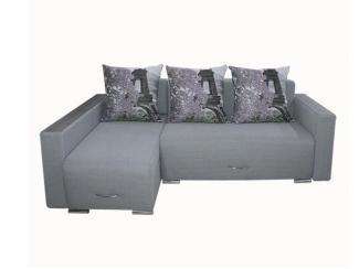 Евро угловой диван Венеция с оттоманкой  - Мебельная фабрика «ИнтерСиб»