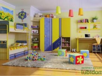 детская Джинс (комплектация 3) - Мебельная фабрика «Любимый дом (Алмаз)»