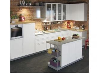 Белая кухня с островком Снайд  - Изготовление мебели на заказ «Кухни ЧУ»