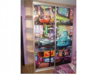 Шкаф - купе в детскую 3874 с фотопечатью - Мебельная фабрика «700 Кухонь»