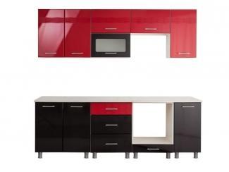 Красно-черная кухня Золушка 1,8 - Мебельная фабрика «Премиум», г. Дзержинск