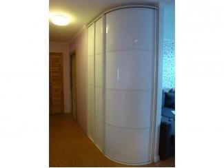 Белый радиусный шкаф - Мебельная фабрика «ТРИ-е»