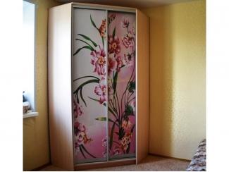 Угловой шкаф-купе с фотопечатью Ниннель  - Мебельная фабрика «Анкор»