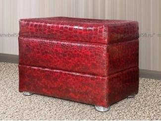 Красный пуфик Гранд  - Мебельная фабрика «МЕГА-мебель»