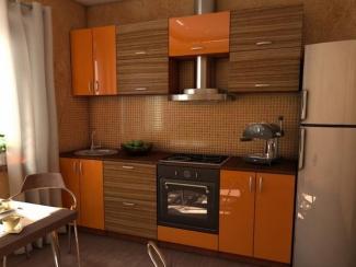 Кухня оранжевая прямая - Мебельная фабрика «Династия»