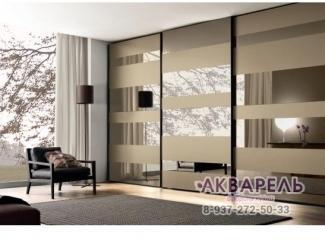 Встроенный шкаф-купе Рикио - Мебельная фабрика «Акварель»