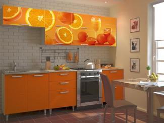Кухонный гарнитур прямой 13 фотопечать - Мебельная фабрика «Виктория»