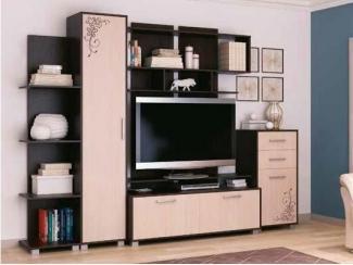 Удобная гостиная с полками Техностиль 2 - Мебельная фабрика «СМГ»