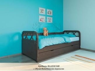 Кровать Валенсия с двумя выкатными ящиками - Мебельная фабрика «Каприз»