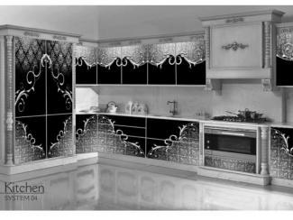 Кухня с рисунком из серебра Италия - Мебельная фабрика «Мебель России»