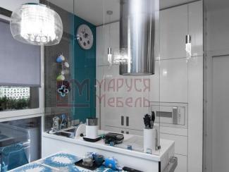 Кухня прямая Белая глянцевая эмаль - Мебельная фабрика «Маруся мебель»