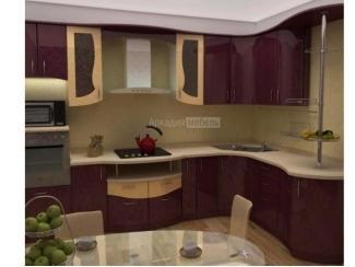 Кухня с гнутым фасадом Волна 1 - Мебельная фабрика «Аркадия-Мебель»