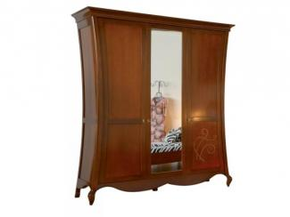 Шкаф трехдверный с зеркалом - Импортёр мебели «Spazio Casa»
