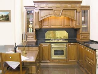 Кухонный гарнитур Бук цвет старый орех-патина черная 2
