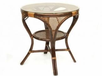 Стол из ротанга  со стеклом Mokko L - Импортёр мебели «ЭкоДизайн»