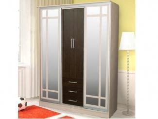 Прямой шкаф-купе 007 - Мебельная фабрика «Евростиль»
