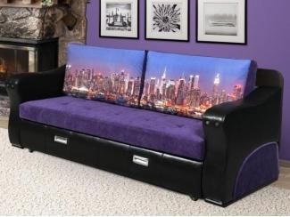 Черно-фиолетовый диван-стол