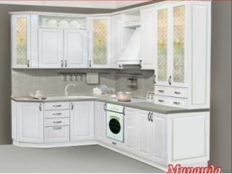 Белая угловая кухня Миранда  - Мебельная фабрика «Ульяновскмебель (Эвита)»