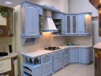 Кухонный гарнитур Ясень цвет голубая лагуна