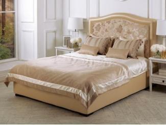 Двуспальная кровать в бежевом цвете Честер  - Мебельная фабрика «Рой Бош»