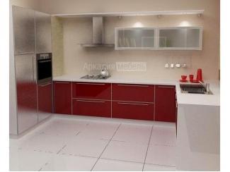 П-образная красная кухня Энергия 5 - Мебельная фабрика «Аркадия-Мебель»