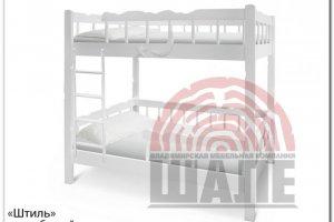 Белая двухъярусная кровать Штиль - Мебельная фабрика «ВМК-Шале», г. Владимир