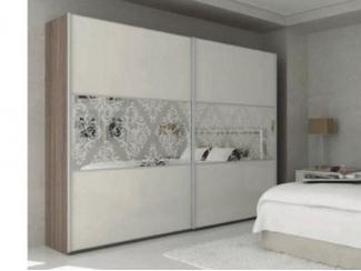 Светлый шкаф с узором Каппа   - Мебельная фабрика «Триана»