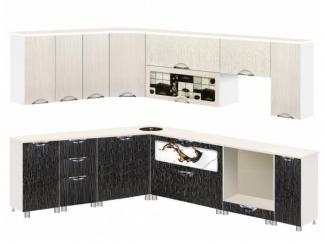 Двухцветная угловая кухня Стиль 2  - Мебельная фабрика «КМК (Красноярская мебельная компания)»