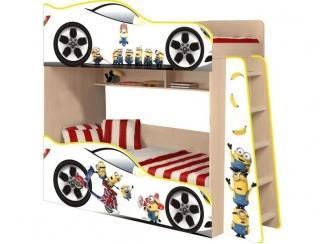 Двухъярусная детская кровать  Миньоны модель 4 - Мебельная фабрика «ПМК ВиП»