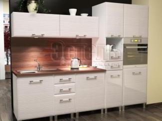 Кухня МДФ Белый дым глянец - Мебельная фабрика «Эстель»