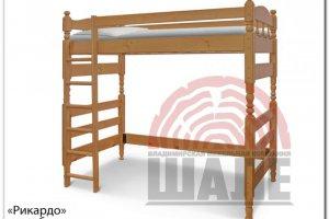 Детская кровать-чердак Рикардо - Мебельная фабрика «ВМК-Шале», г. Владимир