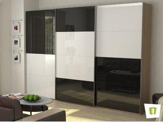 Шкаф-купе Эста с фасадом из белого и черного стекла - Мебельная фабрика «Е1»