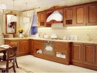 Угловая кухня из массива Магнолия  - Мебельная фабрика «Кухни Медынь»