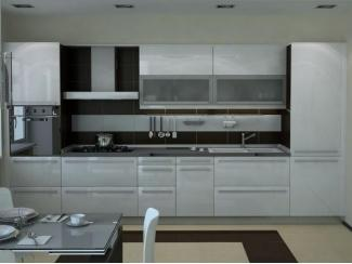Белая прямая кухня   - Мебельная фабрика «Перспектива»