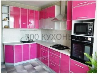 Угловая розовая кухня - Мебельная фабрика «700 Кухонь»