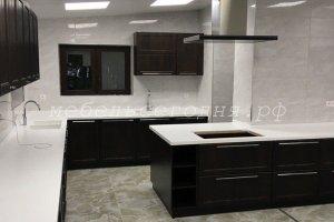 Черная кухня с островом - Мебельная фабрика «МебельСегодня»