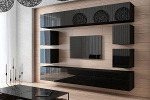 Черная стенка GOS 002 базовая - Мебельная фабрика «Мебель и Я»