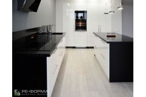 Черно-белая Кухня 018 - Мебельная фабрика «Ре-Форма»