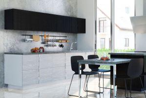 Черно-белая кухня Альберо Неро Бьянко - Мебельная фабрика «Энли»