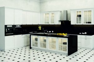 Черно-белая кухня Simona - Мебельная фабрика «Евроньюформ»