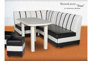 Черно-белый кухонный уголок Уют - Мебельная фабрика «Алекс»
