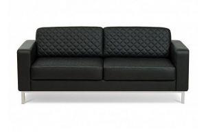 Черный диван Бентли из экокожи - Мебельная фабрика «МВК»