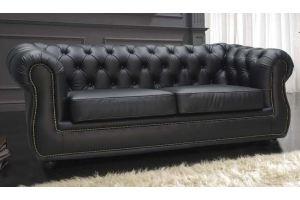 Черный диван Честер - Мебельная фабрика «Darna-a»