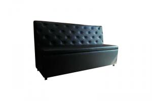 Черный диван офисный - Мебельная фабрика «Лина-Н»