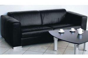 Черный прямой диван Оберхоф - Мебельная фабрика «CHESTER»