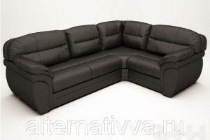 Черный угловой диван для гостиной ALDES 20  - Мебельная фабрика «Alternativa Design», г. Самара