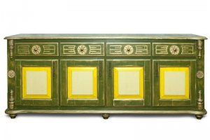 Четырехдверный комод из массива сосны Лето - Мебельная фабрика «Грин Лайн»