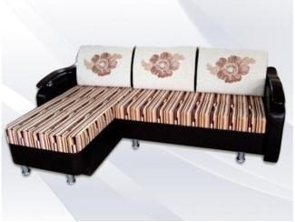 Угловой диван с принтом ЕК-6 - Мебельная фабрика «Династия»