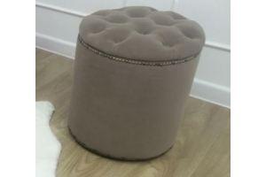 Пуф круглый с каретной стяжкой 100 - Мебельная фабрика «Александр мебель»