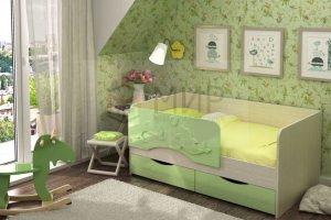 Детская кровать Дельфин салатовая - Мебельная фабрика «Мир»